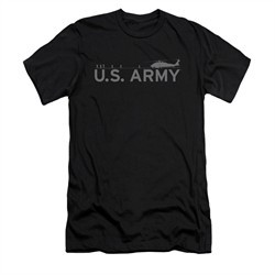 Army Shirt Slim Fit Helicopter Black T-Shirt