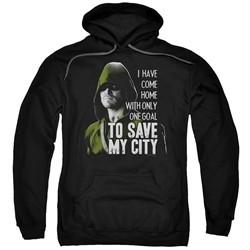 Arrow Hoodie Save My City Black Sweatshirt Hoody