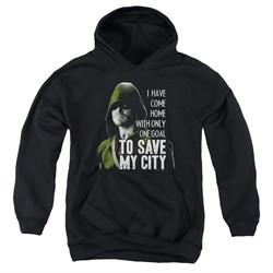 Arrow Youth Hoodie Save My City Black Kids Hoody