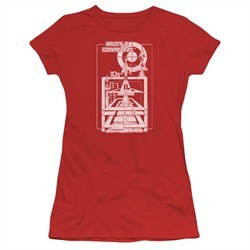 Atari Juniors Shirt Lift Off Red T-Shirt
