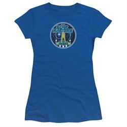 Atari Juniors Shirt Star Raiders Badge Royal Blue T-Shirt