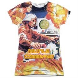 Atari Shirt Missile Command Sublimation Juniors T-Shirt