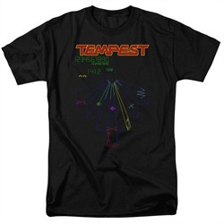 Atari Shirt Tempest Screen Black Tall T-Shirt