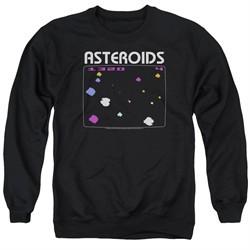 Atari Sweatshirt Asteroids Screen Adult Black Sweat Shirt