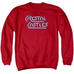 Atari Sweatshirt Crystal Castles Logo Adult Red Sweat Shirt