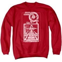 Atari Sweatshirt Lift Off Adult Red Sweat Shirt