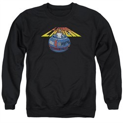 Atari Sweatshirt Lunar Globe Adult Black Sweat Shirt