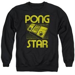 Atari Sweatshirt Pong Star Adult Black Sweat Shirt