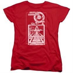 Atari Womens Shirt Lift Off Red T-Shirt