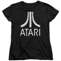 Atari Womens Shirt Rough Logo Black T-Shirt
