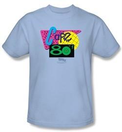 Back To The Future II Kids T-shirt Cafe 80s Light Blue Tee Shirt Youth