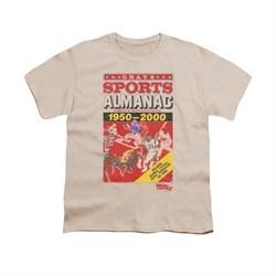 Back To The Future II Shirt Kids Sports Almanac Cream Youth Tee T-Shirt