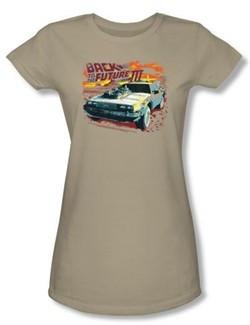 Back To The Future III Juniors T-shirt Movie Wild West Safari Shirt