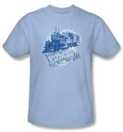 Back To The Future III Kids T-shirt Movie Time Train Light Blue Youth