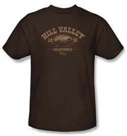 Back To The Future III Kids T-shirt Hill Valley 1855 Coffee Shirt