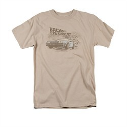 Back To The Future III Shirt Cowboys And Indians Adult Sand Tee T-Shirt