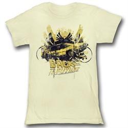 Back To The Future Juniors Shirt Glamour Light Yellow Tee T-Shirt
