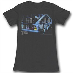Back To The Future Juniors Shirt Serious Style Black Tee T-Shirt