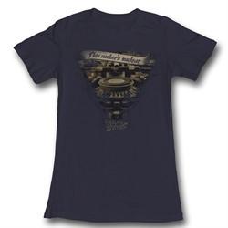Back To The Future Juniors Shirt Very Elaborate Black Tee T-Shirt