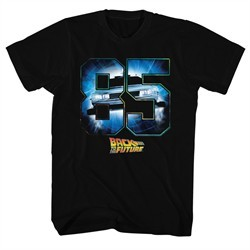 Back To The Future Shirt Eighty Five Black T-Shirt