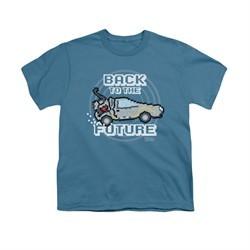 Back To The Future Shirt Kids 8 Bit Future Slate Youth Tee T-Shirt