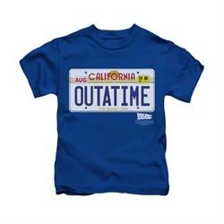 Back To The Future Shirt Kids Outatime Royal Blue Youth Tee T-Shirt