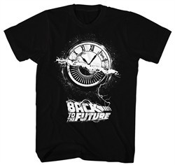 Back To The Future Shirt Wheel Of Time Black T-Shirt