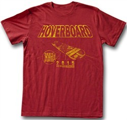 Back To The Future T-Shirt Hoverboard 2015 Red Adult Tee Shirt