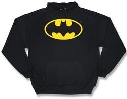 Batman Sweatshirt Hoodie Classic Logo Black Hoody