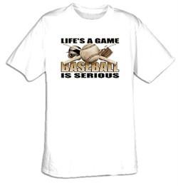 Baseball Is Serious Adult T-shirt Tee Shirt