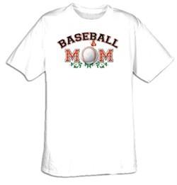 Baseball Mom Sport Adult T-shirt Tee Shirt