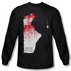 Bates Motel Shirt Criminal Profile Long Sleeve Black Tee T-Shirt