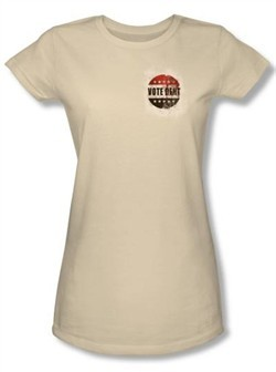 Batman Juniors T-Shirt -Arkham City Vote Dent Natural Tee