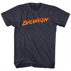 Baywatch Shirt Baewatch Logo Heather Black T-Shirt