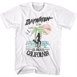 Baywatch Shirt EST 1989 Los Angeles White T-Shirt