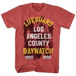 Baywatch Shirt Lifeguard Red Heather T-Shirt