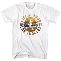 Baywatch Shirt Lifeguard Sunset White T-Shirt