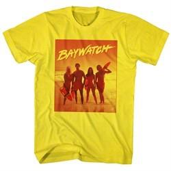 Baywatch Shirt Posing In The Surf Yellow T-Shirt