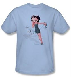 Betty Boop Kids T-shirt Blah Blah Blah Youth Light Blue Tee Shirt