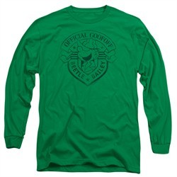 Beetle Bailey Long Sleeve Shirt Official Badge Kelly Green Tee T-Shirt