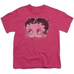 Betty Boop Kids Shirt Pop Art Boop Hot Pink T-Shirt