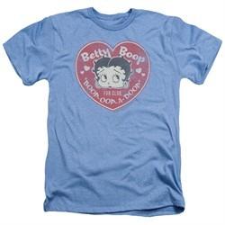 Betty Boop Shirt Fan Club Heart Heather Light Blue T-Shirt