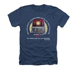 Beverly Hills Cop Shirt Nicest Police Car Adult Heather Navy Tee T-Shirt