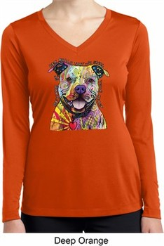 Beware of Pit Bulls Ladies Dry Wicking Long Sleeve Shirt
