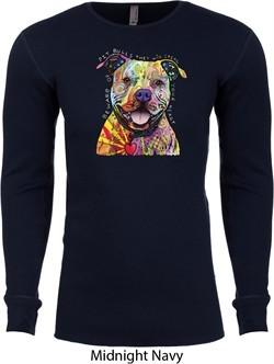 Beware of Pit Bulls Long Sleeve Thermal Shirt