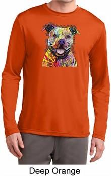 Beware of Pit Bulls Mens Moisture Wicking Long Sleeve Shirt