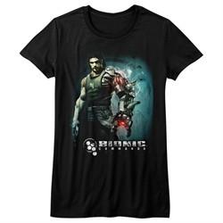 Bionic Commando Shirt Juniors Steam Arm Black T-Shirt