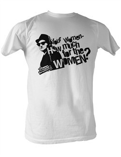The Blues Brothers T-Shirt How Much For The Women White Tee Shirt