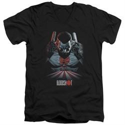 Bloodshot Shirt Slim Fit V-Neck Blood Lines Black T-Shirt