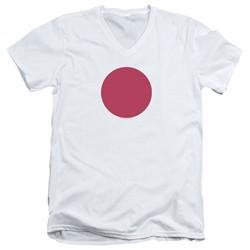 Bloodshot Shirt Slim Fit V-Neck Spot White T-Shirt